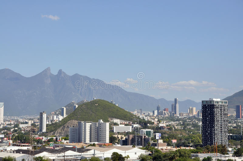 Monterrey-Stadt lizenzfreies stockfoto