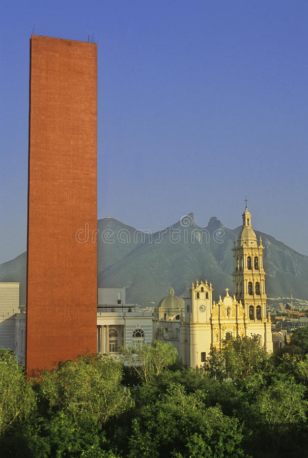 Monterrey-Stadt stockfoto