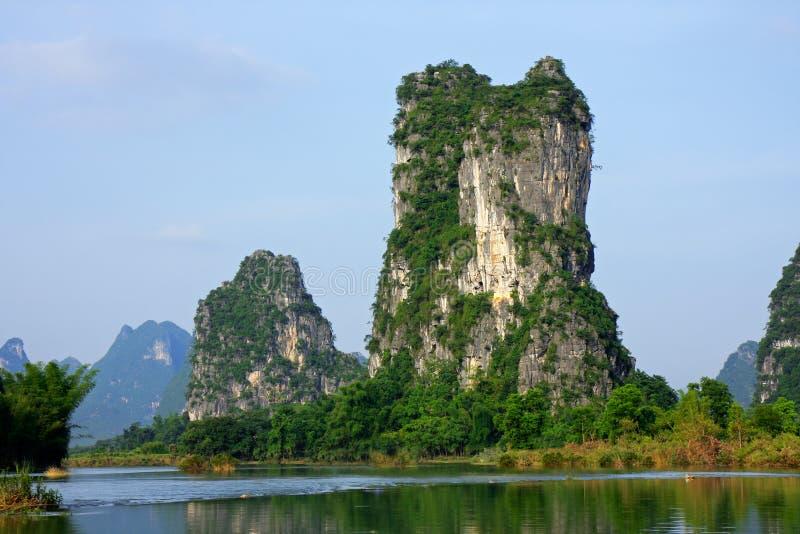 Montes da pedra calcária, China fotos de stock royalty free