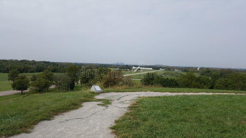 Montes de Cahokia imagens de stock