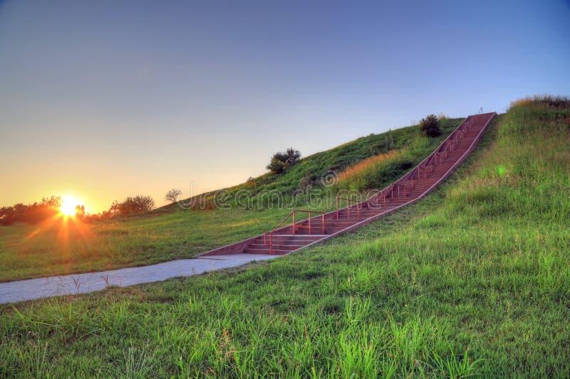 Montes de Cahokia fotografia de stock royalty free