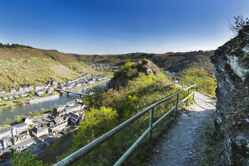 Montes de Cochem e Moselle, Alemanha foto de stock royalty free