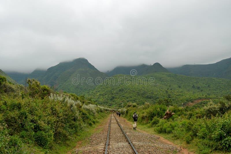 Montes de Kijabe na escarpa do kikuyu, Kenya imagens de stock