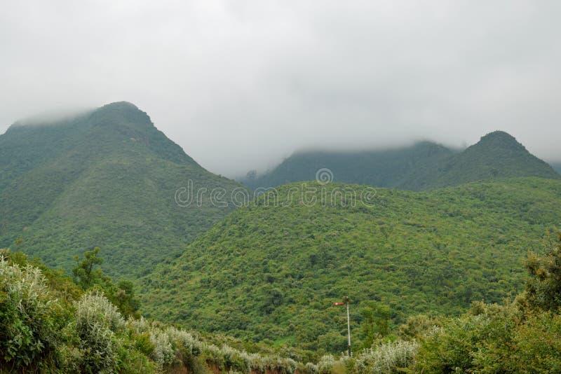 Montes de Kijabe na escarpa do kikuyu, Kenya foto de stock