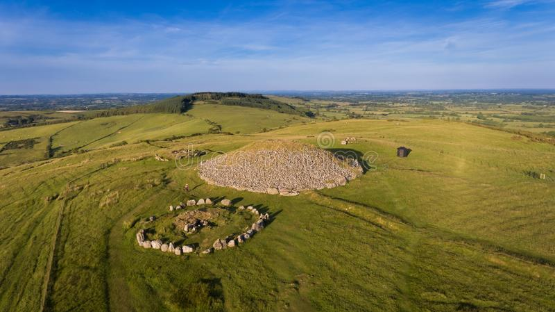 Montes de pedras de Loughcrew condado Meath ireland foto de stock royalty free