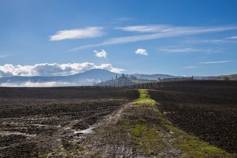 Montes de Toscânia fotografia de stock
