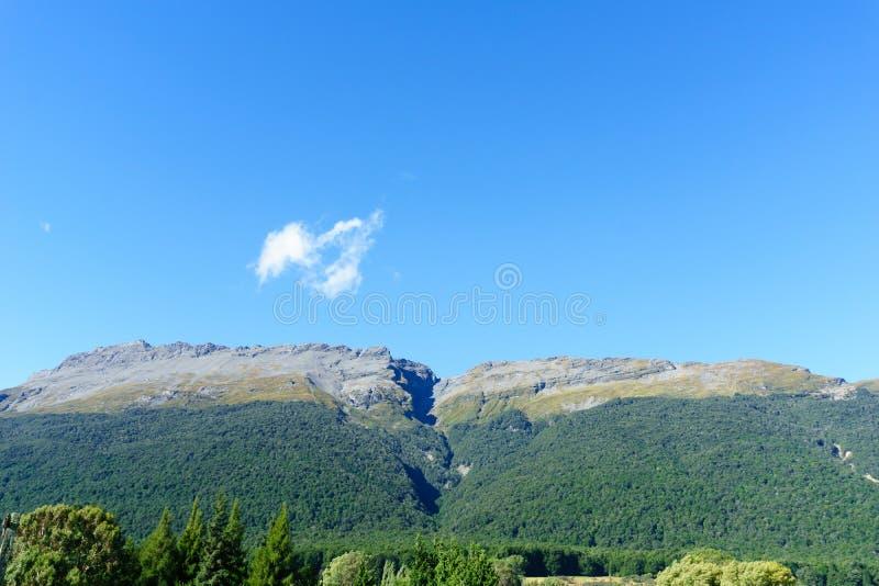 Montes folheados do arbusto distante ao longo da trilha de Rees fotos de stock