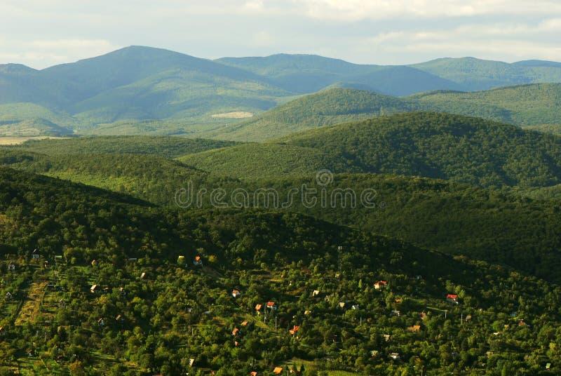 Montes verdes imagem de stock