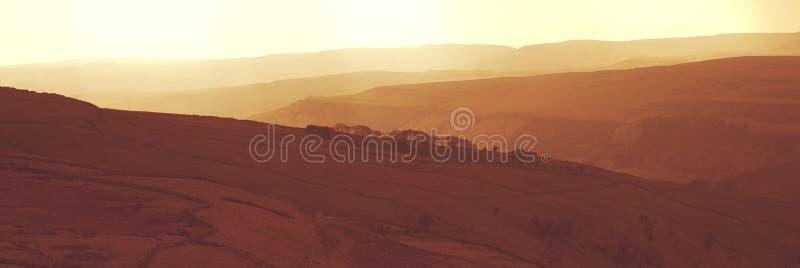 Montes vermelhos de Yorkshire fotografia de stock royalty free