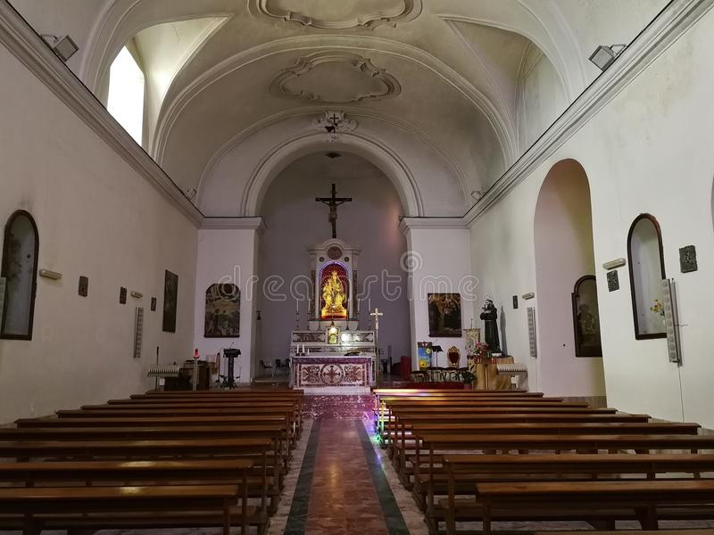 Montesarchio - kościół Santa Maria delle Grazie fotografia royalty free