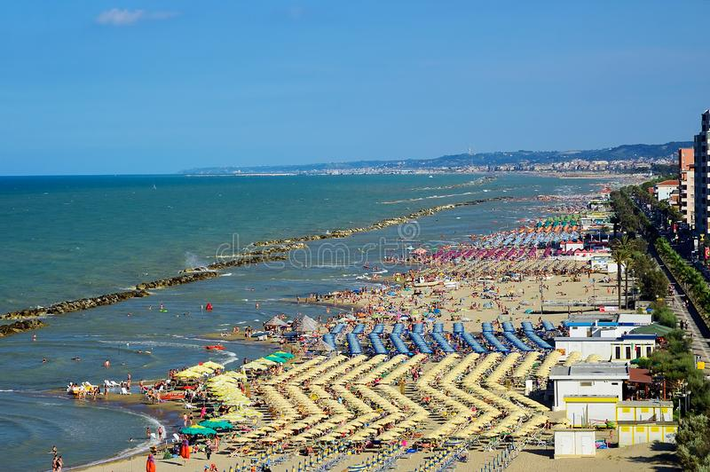 Montesilvano Pescara, Abruzos, Italia fotografía de archivo