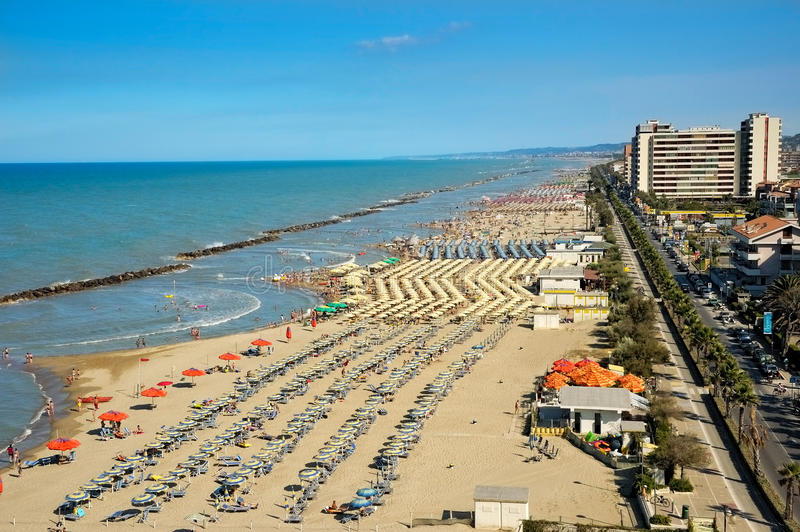 Montesilvano Pescara, Abruzzo, Italie photo libre de droits