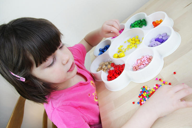 Montessori幼稚园 免版税库存照片