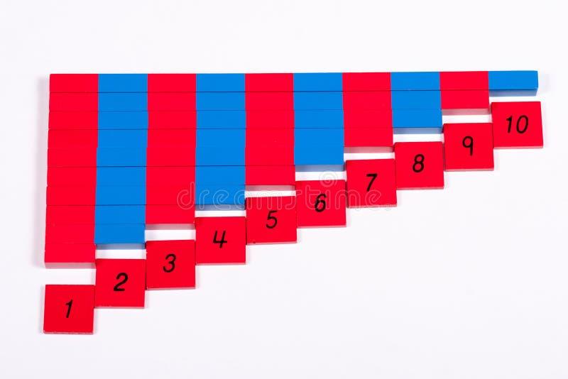 Montessori численные штанги стоковые изображения rf