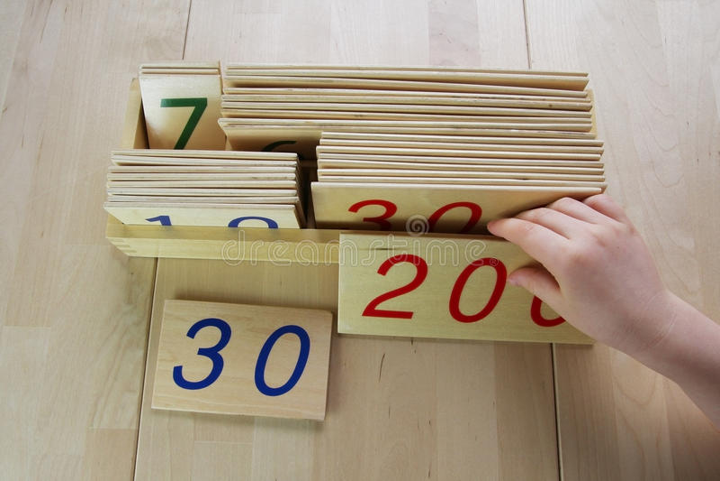 Montessori puzzle. Preschool. royalty free stock images