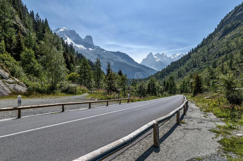 Montets Pass in French Alps. Between Chamonix and Martigny stock photography