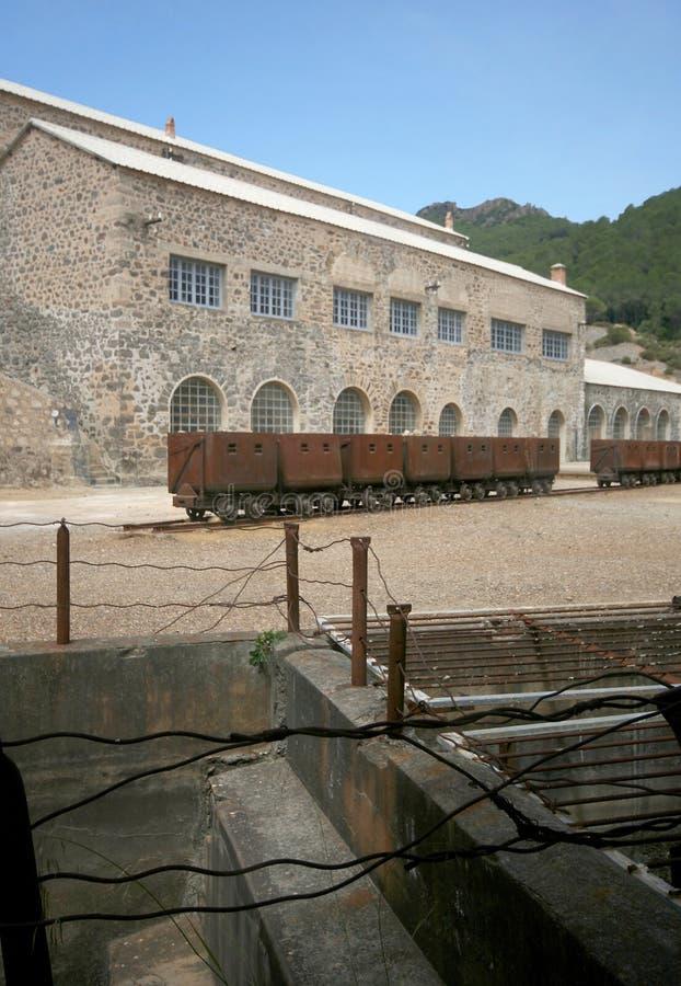 Montevecchio-Bergwerk Guspini (Sardinien - Italien) lizenzfreies stockfoto