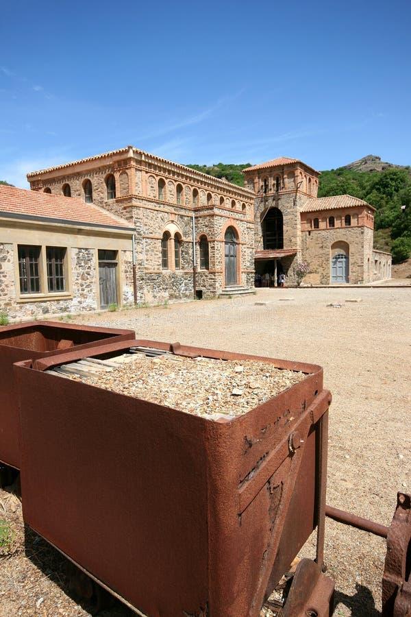 Montevecchio-Bergwerk Guspini (Sardinien - Italien) lizenzfreie stockfotografie