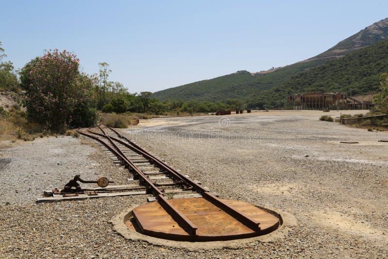 Montevecchio-Bergwerk Sardinien lizenzfreie stockfotografie