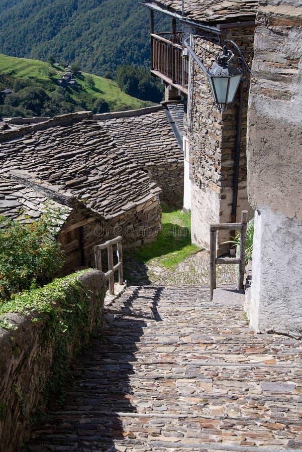Free Monteviasco Mountain Village, Varese, Italy. Stone Architecture Royalty Free Stock Photography - 175176207