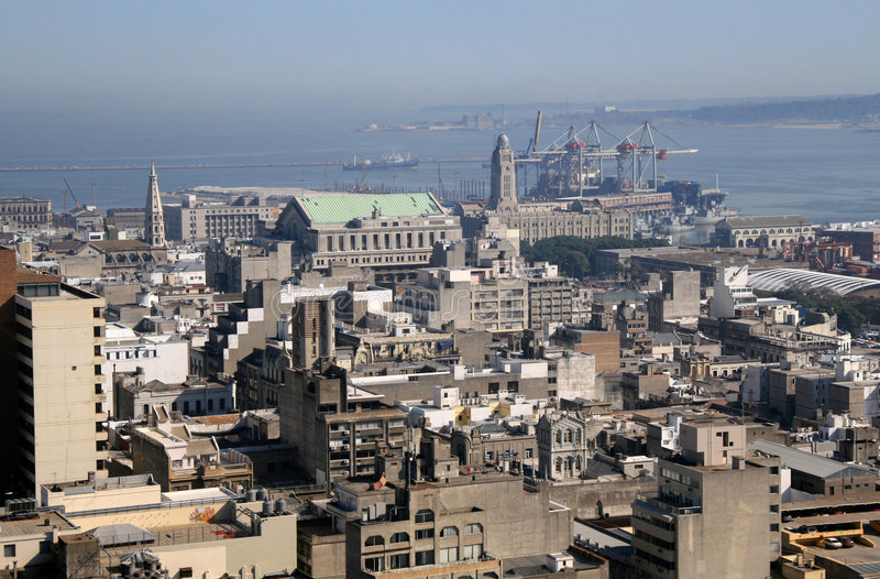 Montevideo, capital of Uruguay royalty free stock images