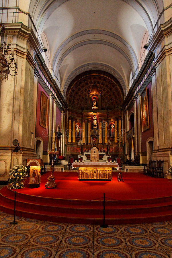 Montevideo Cathedral uruguay royalty free stock photos