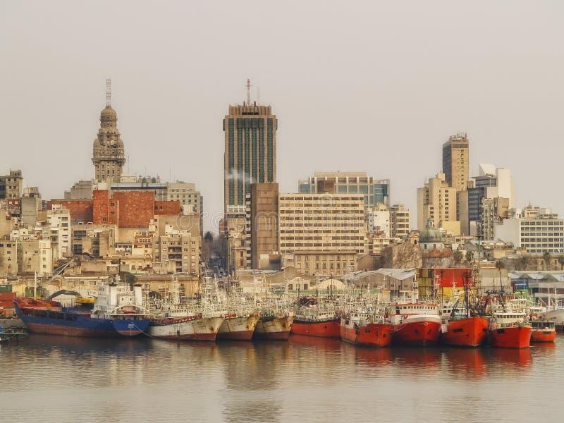 Montevideo port arkivfoton