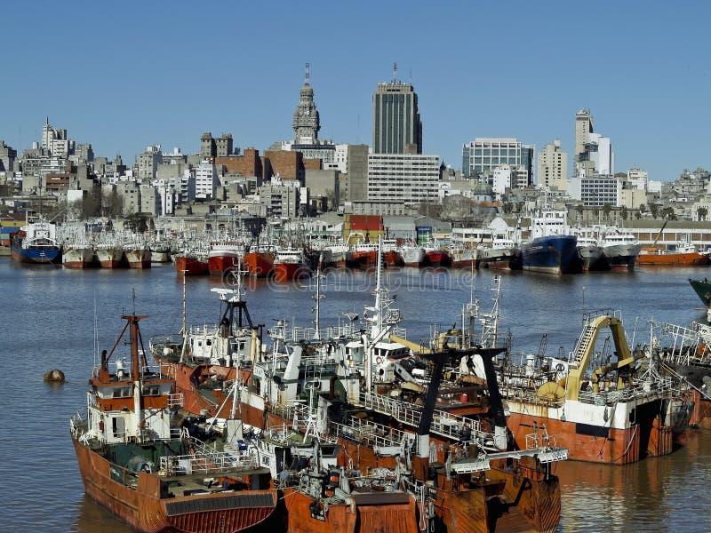 Montevideo port arkivfoto