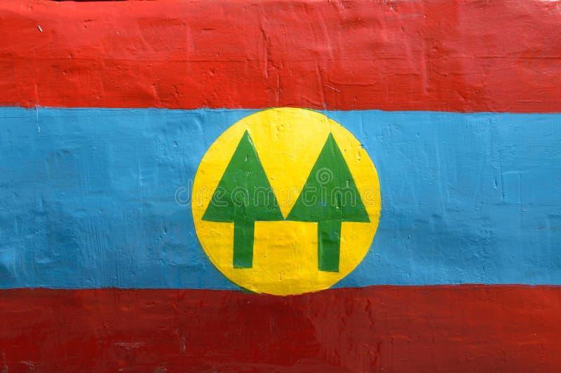 """MONTEVIDEO URUGUAY †""""OKTOBER 6, 2018: emblem av kooperativet som målas på metall royaltyfria foton"""