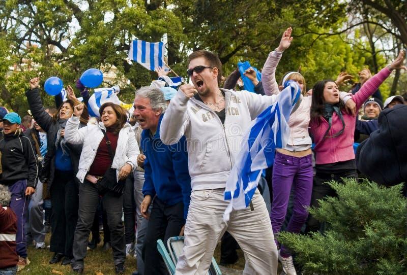 montevideo uruguay för 2010 kopp värld royaltyfri fotografi