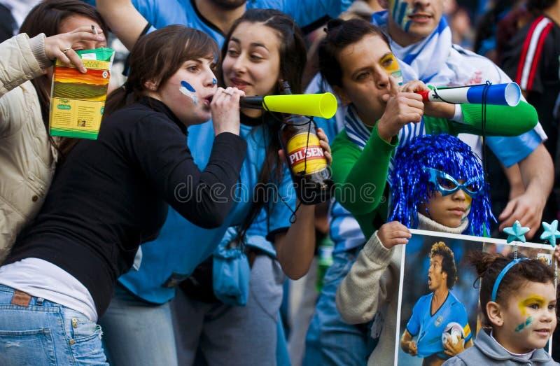 montevideo uruguay för 2010 kopp värld arkivbild