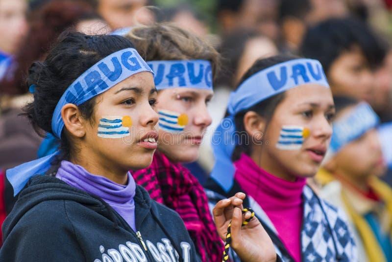montevideo uruguay för 2010 kopp värld royaltyfria foton