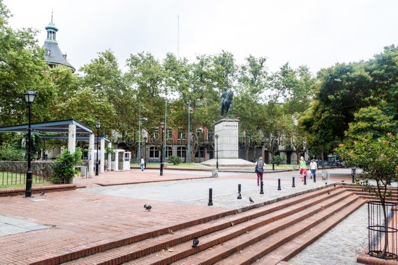 Plaza de los Treinta y Tres square stock photos