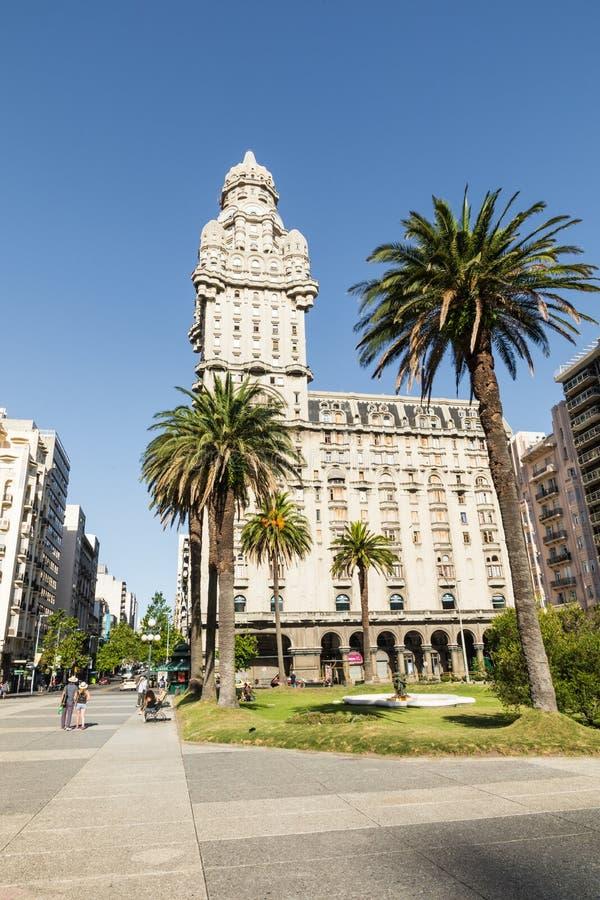 MONTEVIDEO, URUGUAY - FEBRUARY 03,, 2018: Palacio Salvo in the c. Enter of the city of Montevideo, Uruguay stock images
