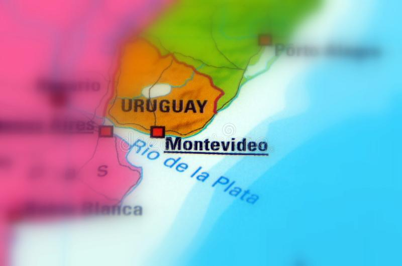 Montevideo, Uruguay. Montevideo, is the capital and largest city of Uruguay selective focus stock photography