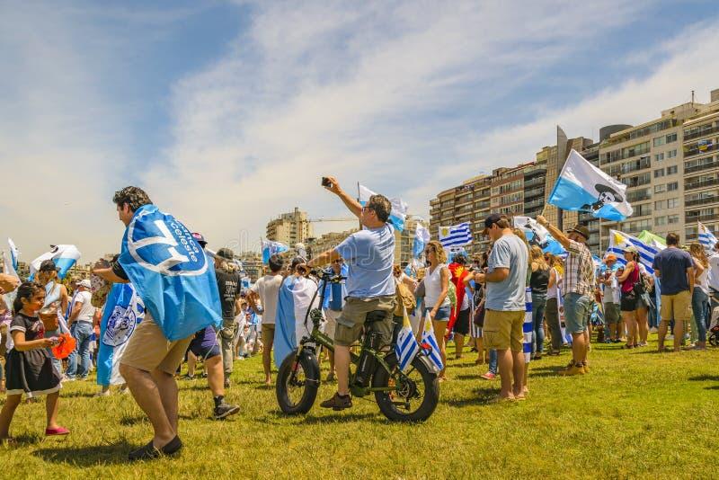 Political Act Celebration, Montevideo, Uruguay royalty free stock photography