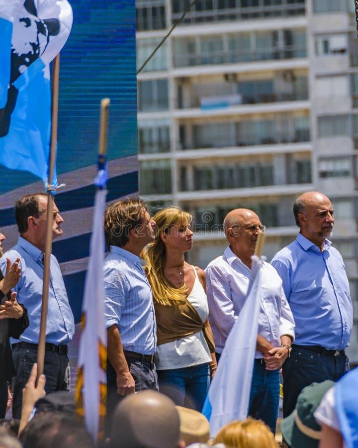 Political Act Celebration, Montevideo, Uruguay royalty free stock image