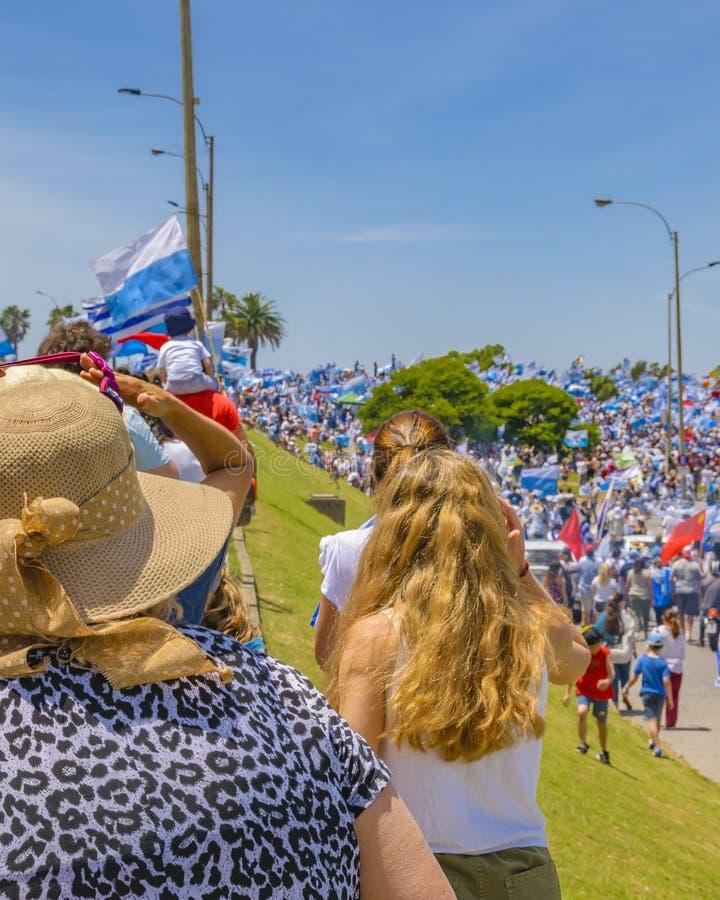Political Act Celebration, Montevideo, Uruguay royalty free stock photo