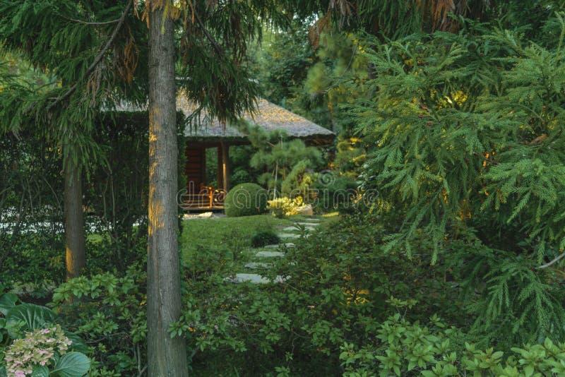 Montevideojapanträdgård royaltyfria bilder