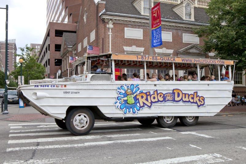 Montez les canards - Philadelphie, Pennsylvanie photographie stock libre de droits