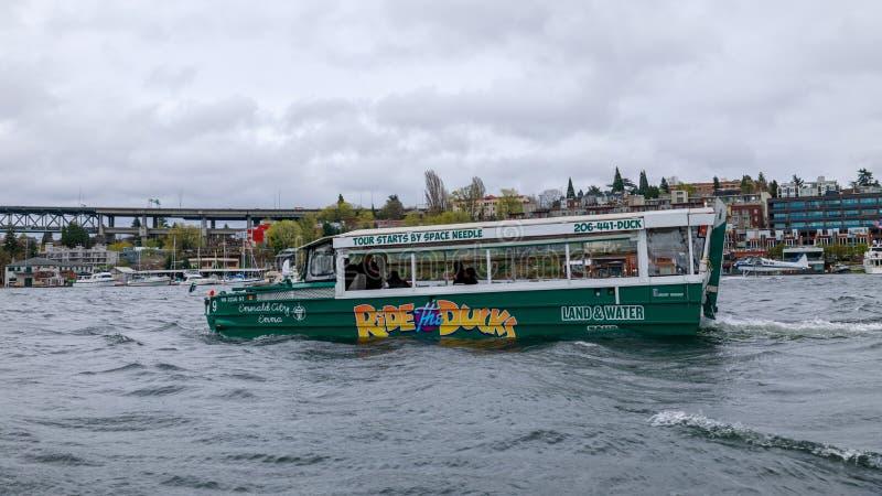 Montez les canards, programme guidé de visite de ville à Seattle, Washington photos libres de droits