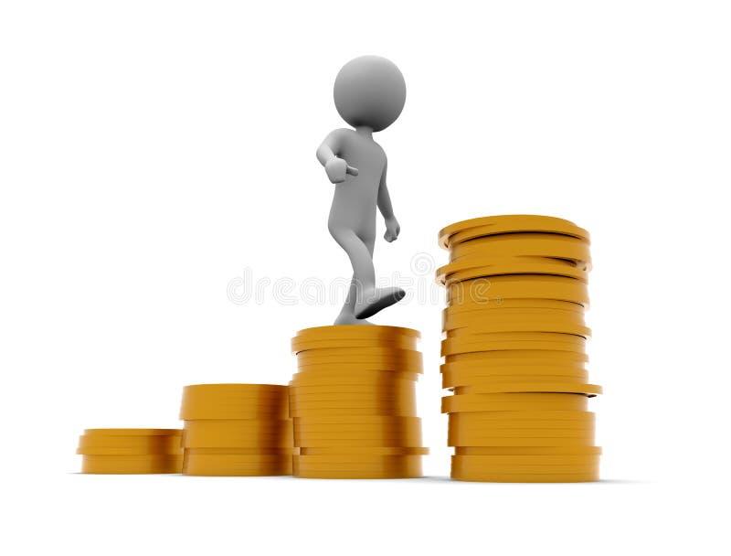 Montez une pile des pièces de monnaie illustration libre de droits