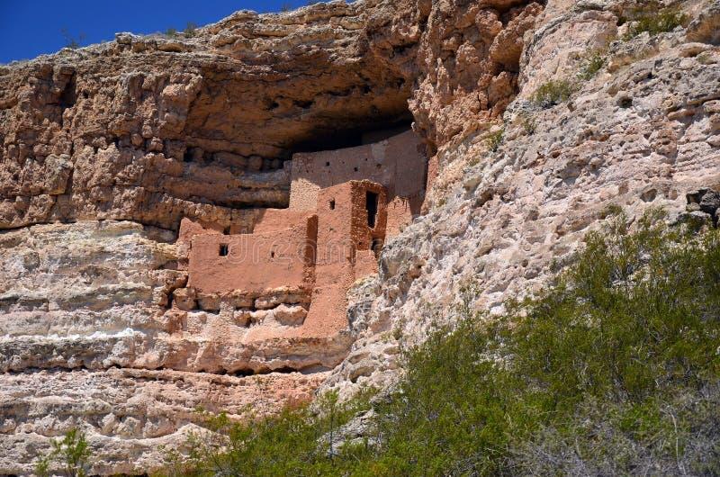 Montezuma城堡镇废墟 免版税库存照片