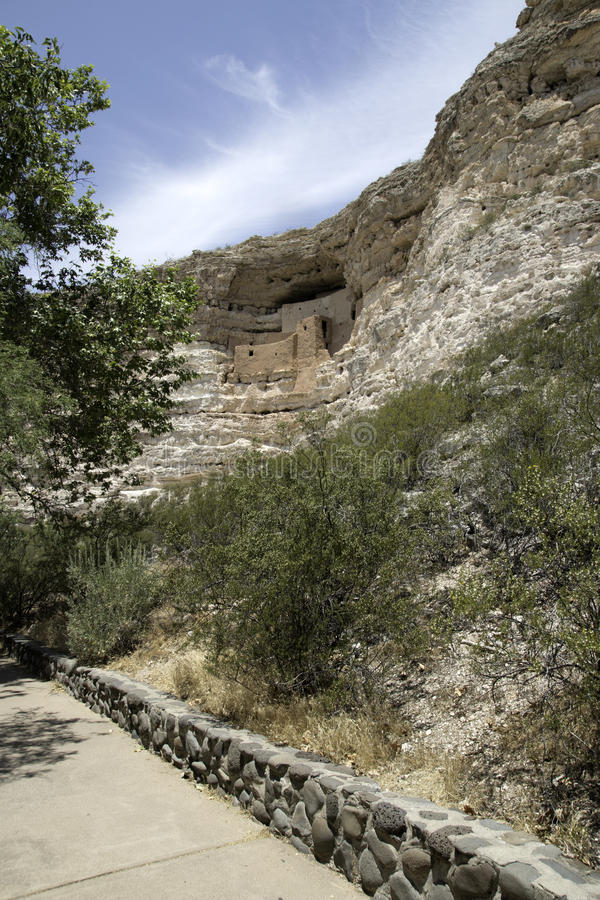 Montezuma Castle National Monument. Ancient Indian dwelling ruins near Camp Verde, Arizona, USA. The dwellings were built and used by the Sinagua people, a pre stock images
