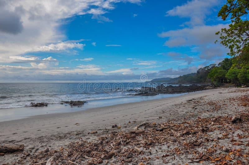 Montezuma plaża, Nicoya półwysep, Costa Rica obraz stock