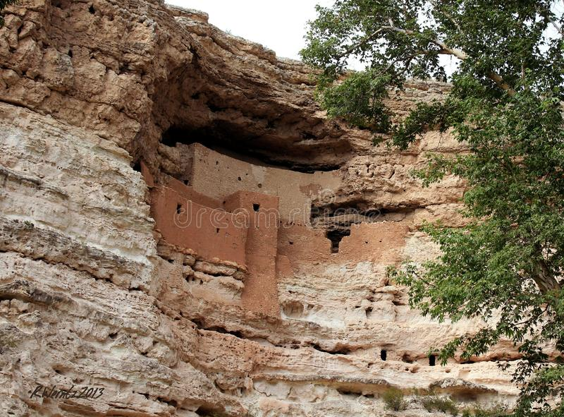 Montezuma's Castle, Arizona stock photography