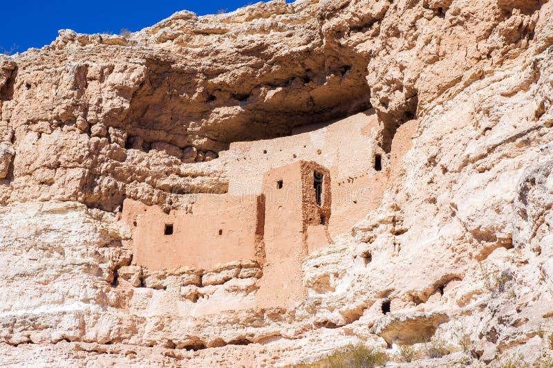 Montezuma Schloss-nationales Denkmal in Arizona lizenzfreie stockfotografie
