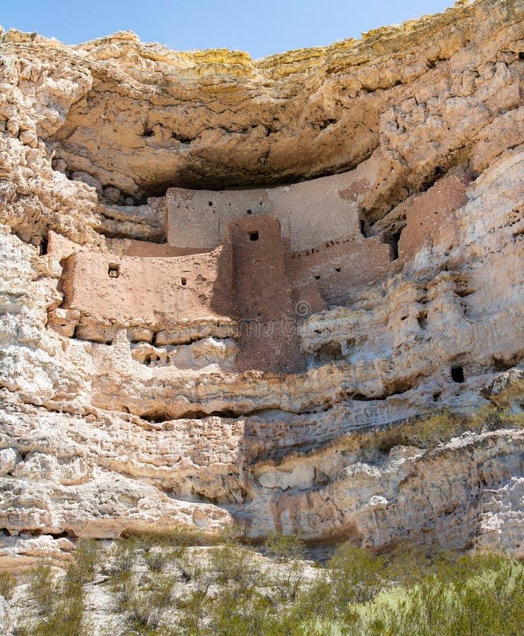Montezumakasteel Arizona in de V.S. royalty-vrije stock afbeelding