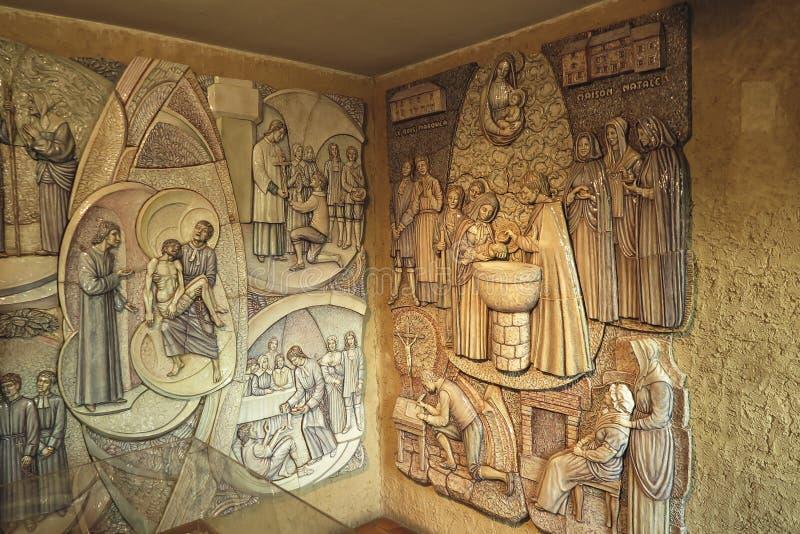 Montfort苏尔Meu,法国, 2016年9月9日:在wal的陶瓷 图库摄影