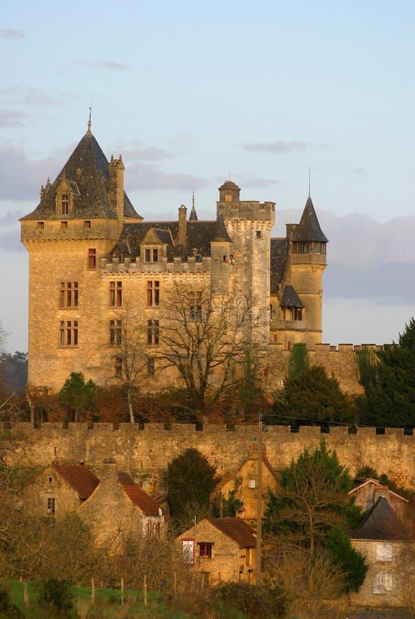 Montfort Castle in Dordogne France royalty free stock image